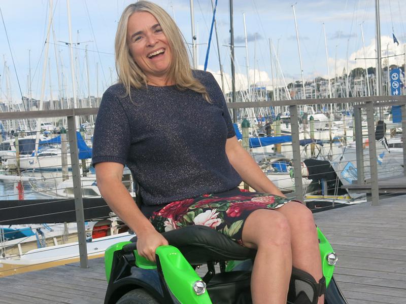 Gretel_enjoying her Omeo ride on the waterfront