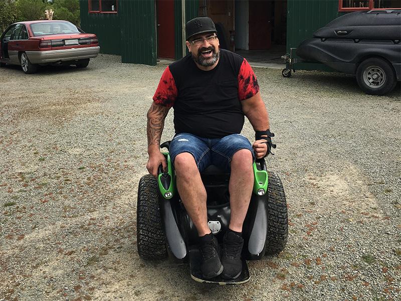 Luke enjoying his Omeo ride
