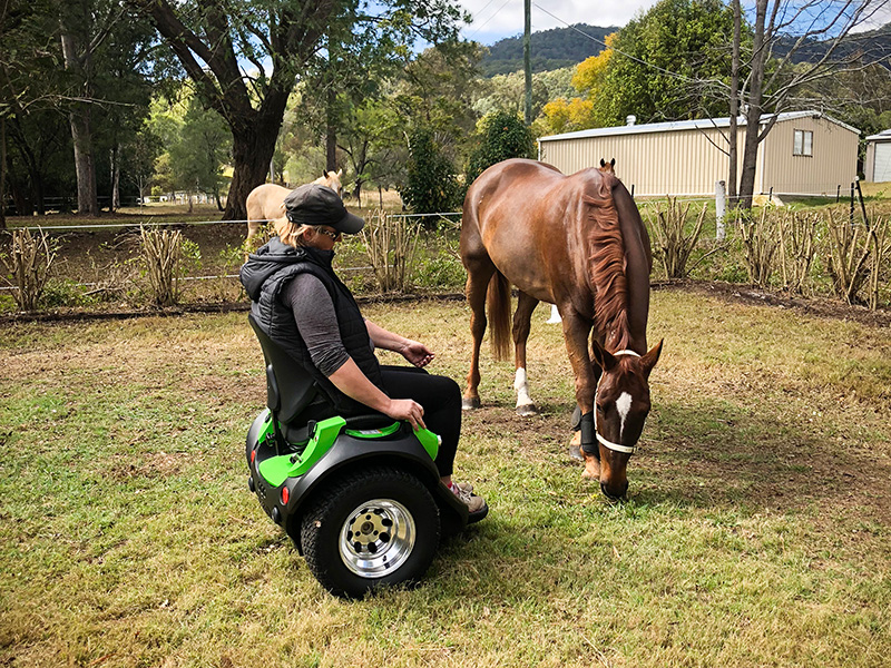 Omeo user working with horses